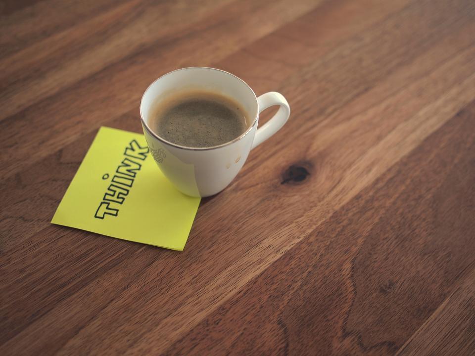 โพส์ทอิท กับกาแฟ
