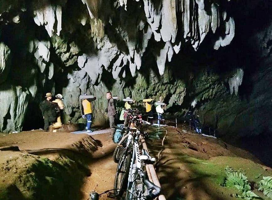 จักรยานของเด็กที่หายไปในถ้ำหลวง
