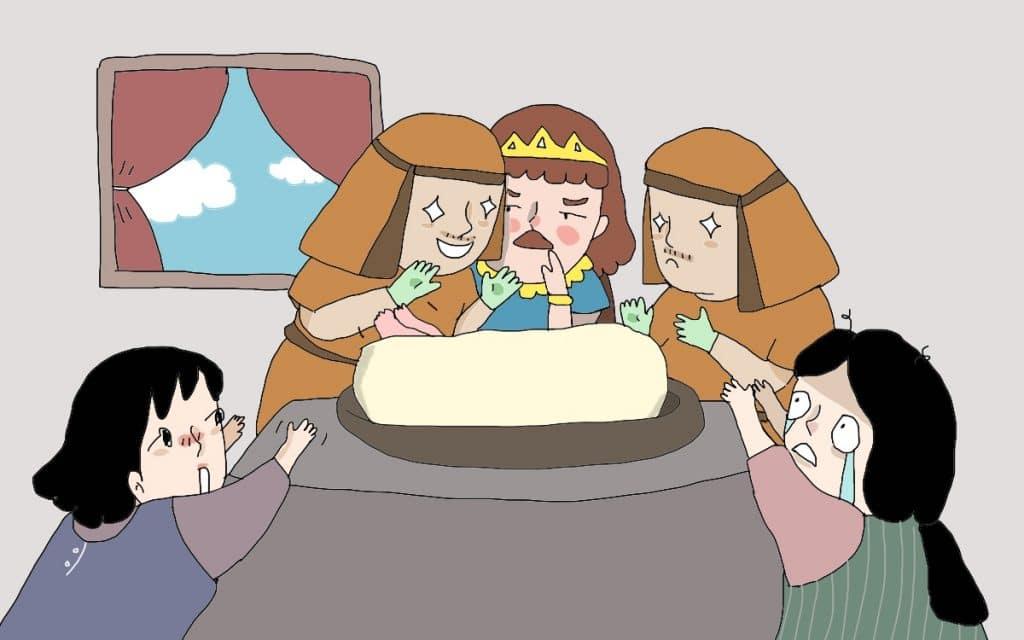 กษัจริย์ซาโลมอน ตัดสินคดี แม่ 2 คน