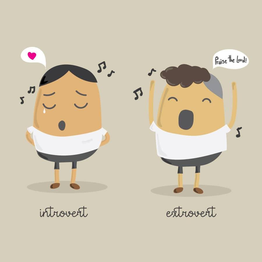 การนมัสการของ Introvert และ Extrovert